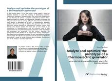 Couverture de Analyze and optimize the prototype of a thermoelectric generator