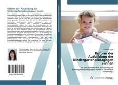 Reform der Ausbildung der Kindergartenpädagogen /-innen的封面