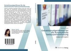 Обложка Extraktionsalgorithmen für die Automatische Textzusammenfassung