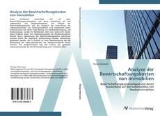 Bookcover of Analyse der Bewirtschaftungskosten von Immobilien