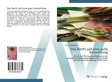 Buchcover von Das Recht auf eine gute Verwaltung
