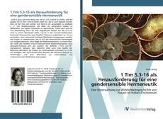 Bookcover of 1 Tim 5,3-16 als Herausforderung für eine gendersensible Hermeneutik