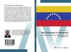 Der Chavismo in Venezuela kitap kapağı