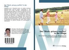 "Capa do livro de Der ""Work- privacy conflict"" in der Pflege"