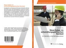 Neue Geber im entwicklungspolitischen Kontext kitap kapağı