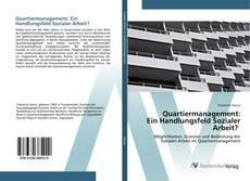 Buchcover von Quartiermanagement: Ein Handlungsfeld Sozialer Arbeit?
