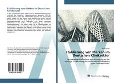 Buchcover von Etablierung von Marken im Deutschen Kliniksektor