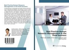 Couverture de Best Practise-Human Resource Management in the hotel business