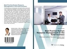 Portada del libro de Best Practise-Human Resource Management in the hotel business