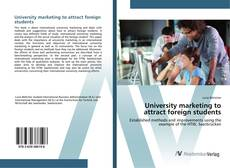 Обложка University marketing to attract foreign students