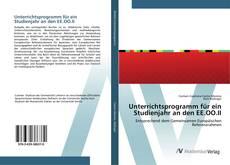 Unterrichtsprogramm für ein Studienjahr an den EE.OO.II kitap kapağı