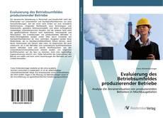 Обложка Evaluierung des Betriebsumfeldes produzierender Betriebe