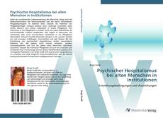 Portada del libro de Psychischer Hospitalismus bei alten Menschen in Institutionen