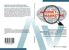Bookcover of Bestimmung eines Markenimages anhand von User Generated Content