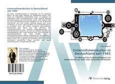 Bookcover of Unternehmenskultur in Deutschland seit 1945