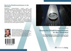 Deutsche Direktinvestitionen in der Slowakei的封面