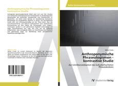 Buchcover von Anthroponymische Phraseologismen - kontrastive Studie