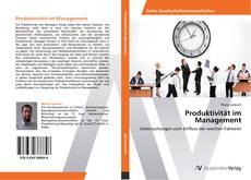 Buchcover von Produktivität im Management