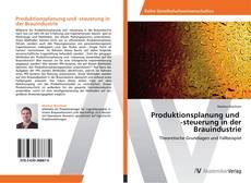 Portada del libro de Produktionsplanung und -steuerung in der Brauindustrie