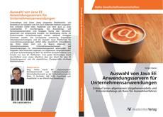 Auswahl von Java EE Anwendungsservern für Unternehmensanwendungen kitap kapağı