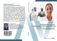 Portada del libro de Strukturierung des Produktentwicklungsprozesses