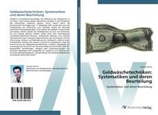 Buchcover von Geldwäschetechniken: Systematiken und deren Beurteilung