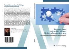 Perspektiven zukunftstfähiger Unternehmensführung kitap kapağı