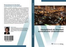 Capa do livro de Deutschland als Standort ausländischer Unternehmen
