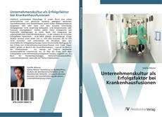 Borítókép a  Unternehmenskultur als Erfolgsfaktor bei Krankenhausfusionen - hoz
