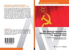 Bookcover of Der deutsch-sowjetische (Nicht)-Angriffsvertrag vom 23. August 1939