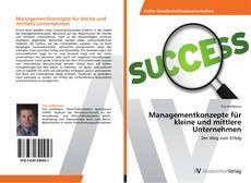 Buchcover von Managementkonzepte für kleine und mittlere Unternehmen