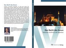 Das Recht des Koran的封面