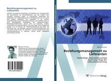 Buchcover von Beziehungsmanagement zu Lieferanten
