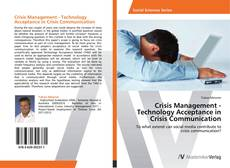 Crisis Management - Technology Acceptance in Crisis Communication kitap kapağı