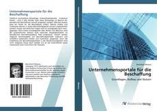Bookcover of Unternehmensportale für die Beschaffung