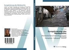 Bookcover of Europäisierung des Werberechts