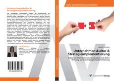 Portada del libro de Unternehmenskultur & Strategieimplementierung
