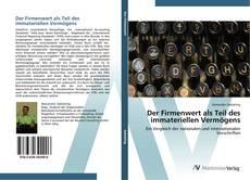 Portada del libro de Der Firmenwert als Teil des immateriellen Vermögens