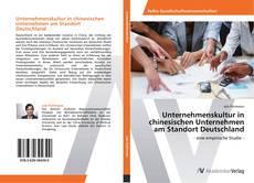 Capa do livro de Unternehmenskultur in chinesischen Unternehmen am Standort Deutschland