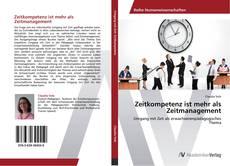 Capa do livro de Zeitkompetenz ist mehr als Zeitmanagement