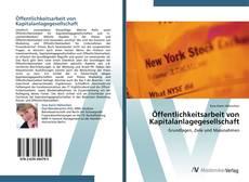 Öffentlichkeitsarbeit von Kapitalanlagegesellschaft kitap kapağı