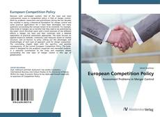 Couverture de European Competition Policy
