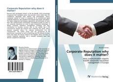 Buchcover von Corporate Reputation why does it matter?