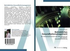 Buchcover von Betriebliches Gesundheitsmanagement
