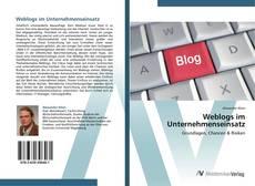 Bookcover of Weblogs im Unternehmenseinsatz