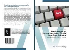 Capa do livro de Das Internet als Vermartungsweg für die Tonträgerindustrie