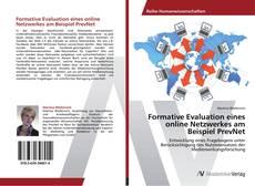 Buchcover von Formative Evaluation eines online Netzwerkes am Beispiel PrevNet