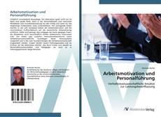 Arbeitsmotivation und Personalführung kitap kapağı