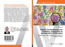 Buchcover von Staatl. Finanzierung von Parteien, Fraktionen & parteinahen Stiftungen