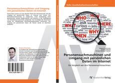 Buchcover von Personensuchmaschinen und Umgang mit persönlichen Daten im Internet